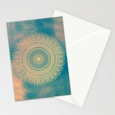 GOLDEN SUN MANDALA Stationery Cards