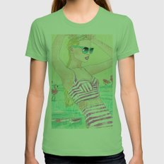 Summer Womens Fitted Tee Grass SMALL