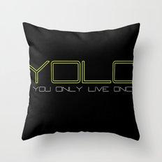 YOLO 2 Throw Pillow