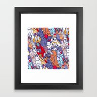 Space Toons In Color Framed Art Print