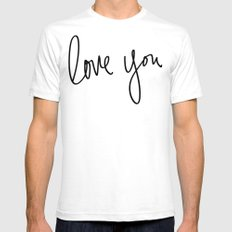 Love You x Orange Floral Mens Fitted Tee White SMALL