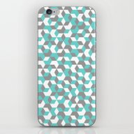 Hexagon(blue) #1 iPhone & iPod Skin