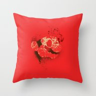 The Red Knight (Red Vers… Throw Pillow