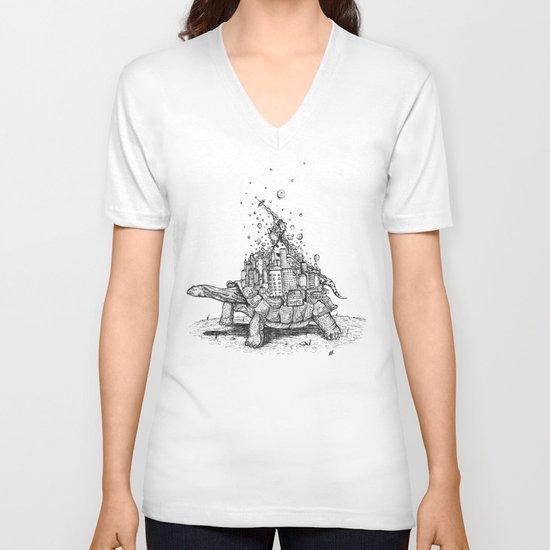 Tortoise Town V-neck T-shirt