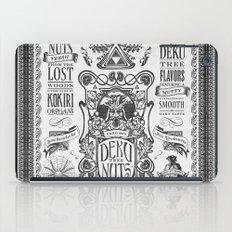 Legend of Zelda inspired Deku Nuts Vintage Advertisement iPad Case