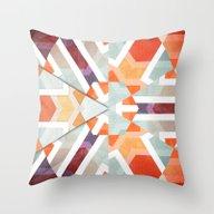 Orange Geometry Of Three Throw Pillow
