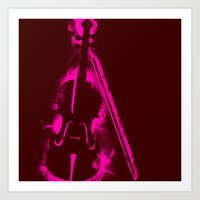 Painted Violin Art Print