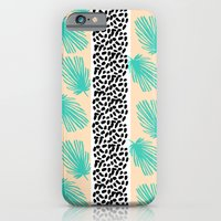 iPhone & iPod Case featuring Palm Leaf Abstract by Bouffants and Broken Hearts