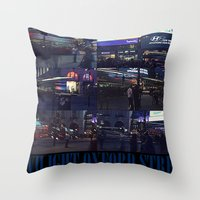 TWILIGHT OXFORD STREET Throw Pillow