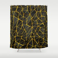 Yellow Wire Shower Curtain