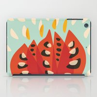 Red Abstract Tulip iPad Case
