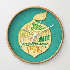 Lemon Meringue Pie Wall Clock