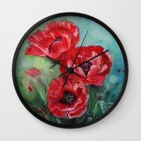 The Fairies Poppies Wall Clock