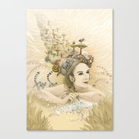 Animal princess Canvas Print