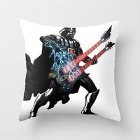 Darth Vader Force Guitar Solo Throw Pillow