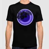 Aloha Moon Mens Fitted Tee Black SMALL