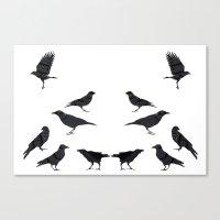 kargalar (crows) Canvas Print