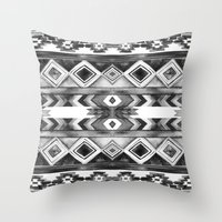 Southwest Pattern- Black… Throw Pillow