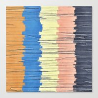 Textured Stripes Abstract Canvas Print