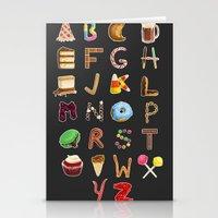 Dessert Alphabet  Stationery Cards