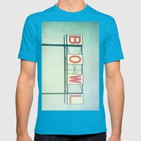 Bowl Mens Fitted Tee Teal SMALL
