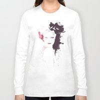 Fashion illustration in watercolors Long Sleeve T-shirt