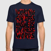 Wisdom.. Mens Fitted Tee Navy SMALL