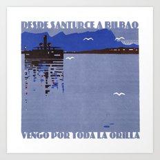 Desde Santurce a Bilbao Art Print
