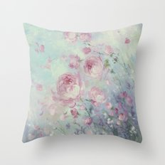 Dancing Petals Throw Pillow
