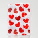 Notebook of hearts Stationery Cards