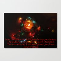 Christmas Typography Canvas Print