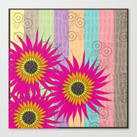 Flower Collage Canvas Print