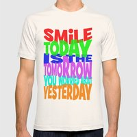 SMiLE Mens Fitted Tee Natural SMALL