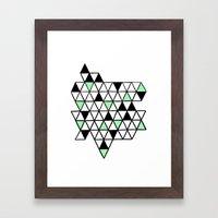 Geometría Framed Art Print