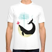 The Bird and The Whale Mens Fitted Tee White SMALL
