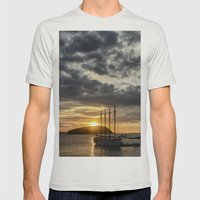 Sunrise Bar Harbor Maine Mens Fitted Tee Silver SMALL