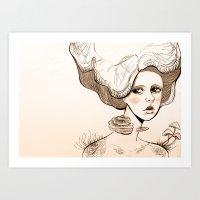 Mushroom Girl Art Print