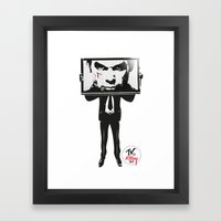 TV IS KILLING US Framed Art Print