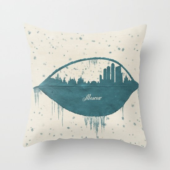 Frozen Moscow Throw Pillow