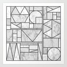 Kaku Stone Art Print