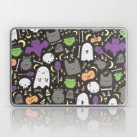 Kawaii Halloween - Black Laptop & iPad Skin
