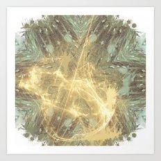 Kaos theory mandala Art Print