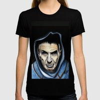 Spock Womens Fitted Tee Black SMALL
