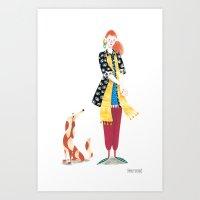 Bo & Betina Art Print