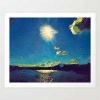 Sunshine At The Black Se… Art Print