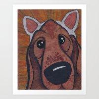 Kitty Puppy Art Print