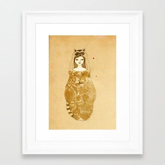 Little thief Framed Art Print