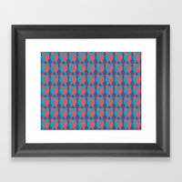 BLUE/RED BIRDS  Framed Art Print