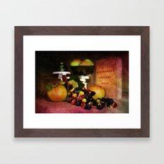 In the Kitchen. Framed Art Print