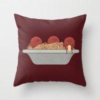 The Knitter Throw Pillow